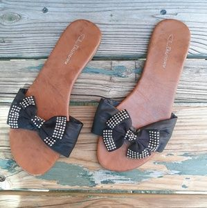 Chinese Laundry Slip on Sandals Big Bow